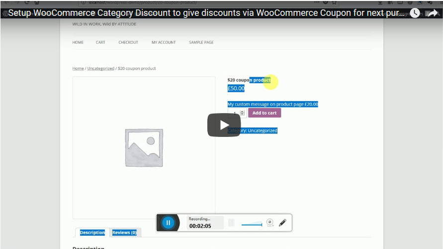 WooCommerce Category Discount - 3